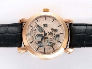 Popular Vacheron Constantin Skeleton Automatic Rose Gold Casing AAA Watches [N2Q5]