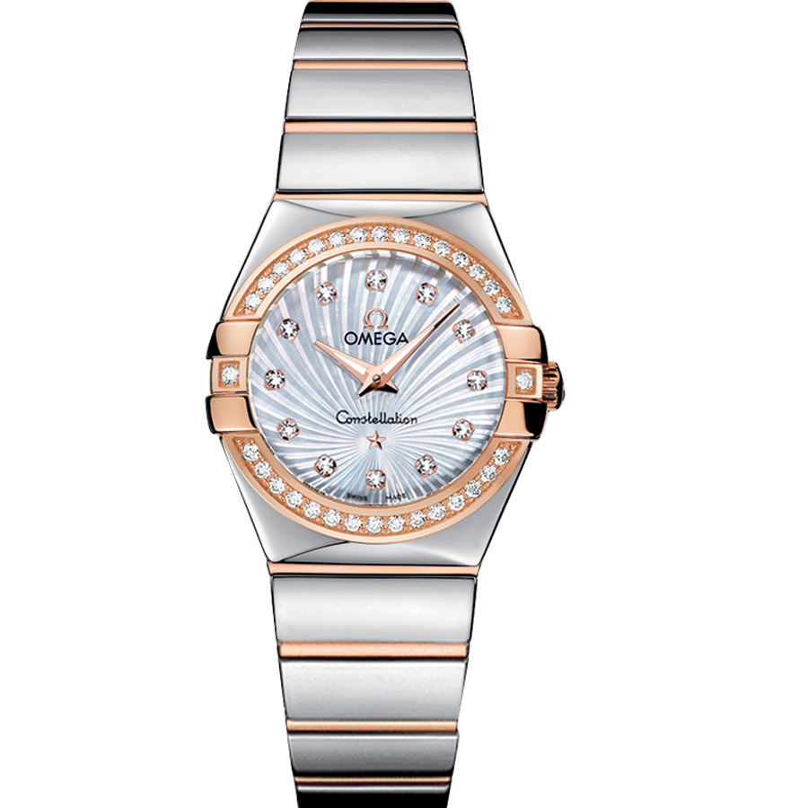 123.25.27.60.55.006 Copy Omega Watches Constellation Ladies Quartz watch [a24b]
