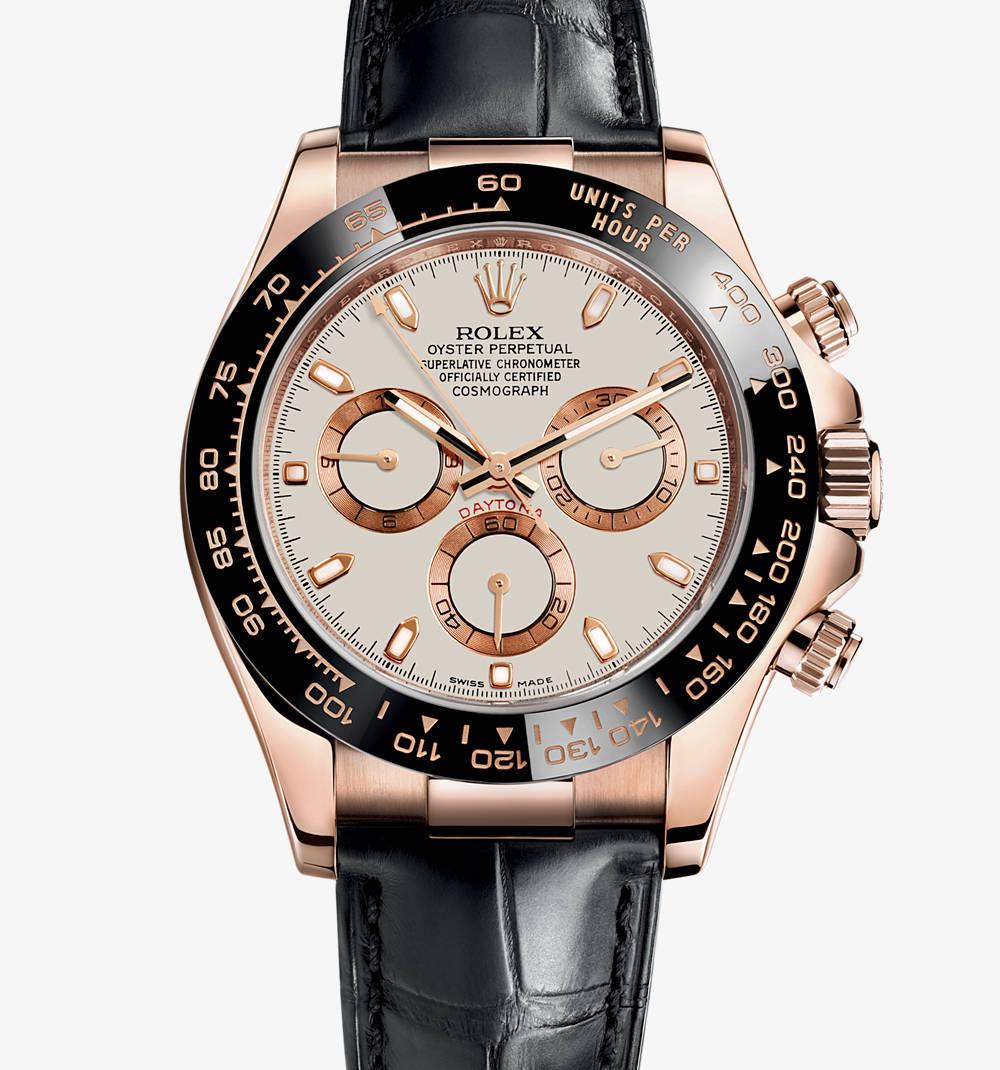 Replica Rolex Cosmograph Daytona Watch: 18 ct Everose guld - M116515LN-0003 [ea50]