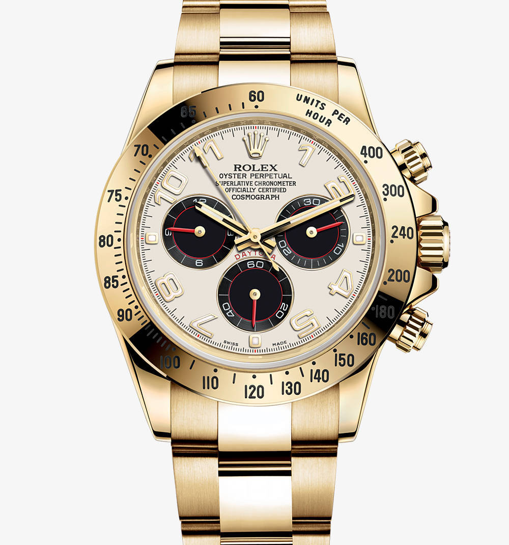 Replica Rolex Cosmograph Daytona Watch: 18 ct yellow gold – M116528-0038 [af20]