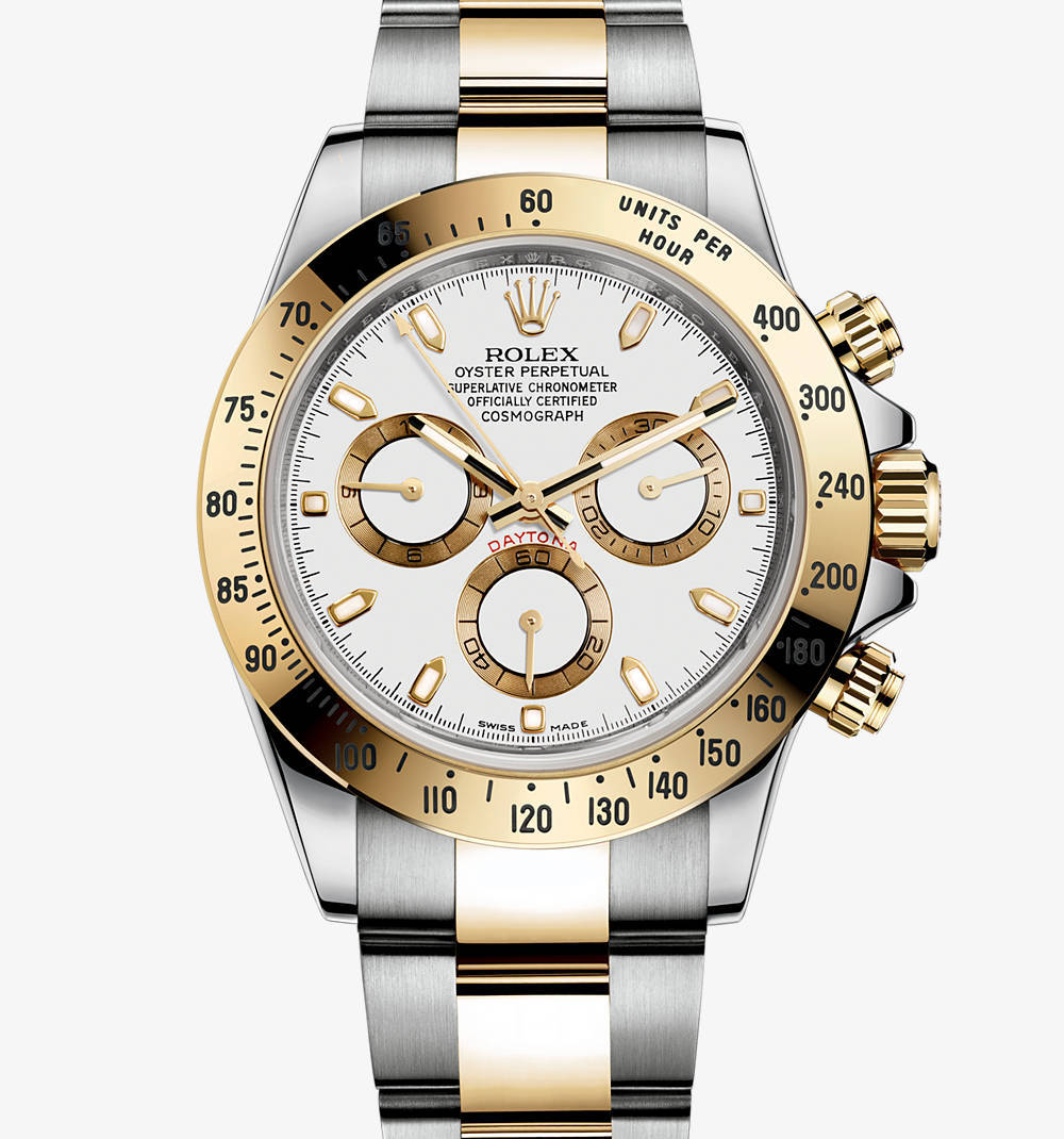Replica Rolex Cosmograph Daytona Watch: Yellow Rolesor - combination of 904L steel and 18 ct yellow gold – M116523-0040 [b349]