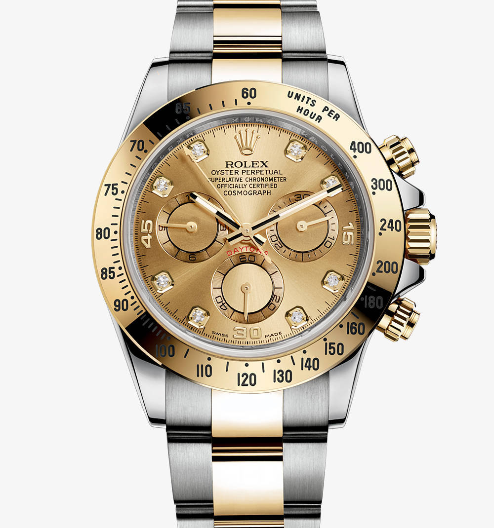 Replica Rolex Cosmograph Daytona Watch: Yellow Rolesor - combination of 904L steel and 18 ct yellow gold – M116523-0055 [7d20]