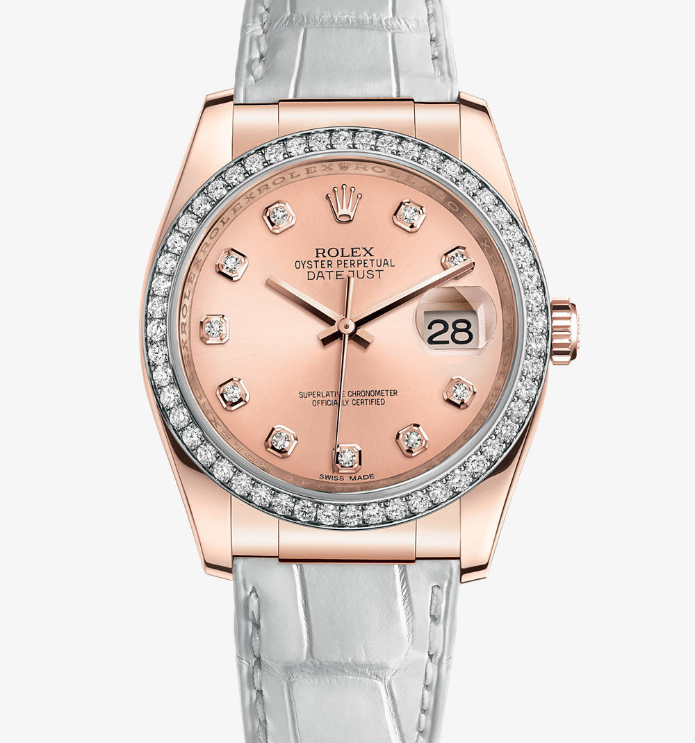 Replica Rolex Datejust 36 mm Watch: 18 ct Everose gold – M116185-0008 [6e0f]