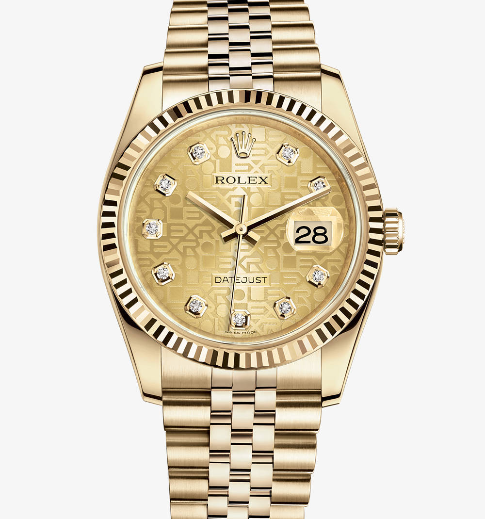 Replica Rolex Datejust 36 mm Watch: 18 ct yellow gold – M116238-0058 [47a8]