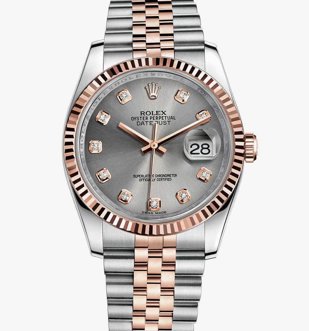Replica Rolex Datejust 36 mm Watch: Everose Rolesor - combination of 904L steel and 18 ct Everose gold – M116231-0100 [e805]
