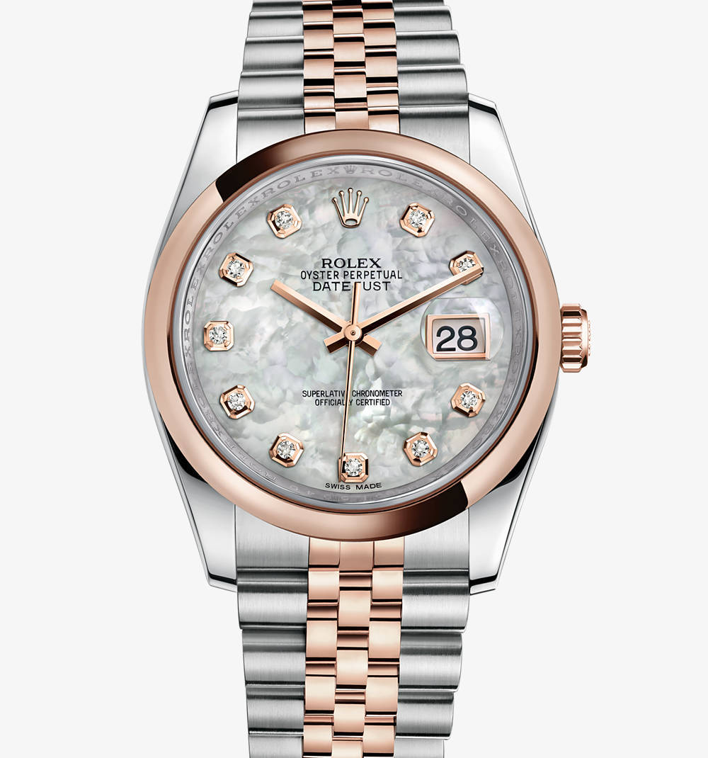 Replica Rolex Datejust 36 mm Watch: Everose Rolesor - combination of 904L steel and 18 ct Everose gold – M116201-0100 [951d]