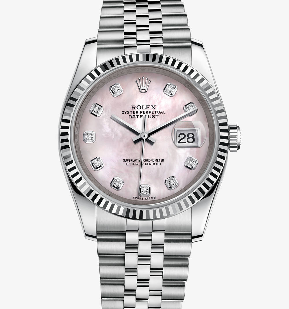 Replica Rolex Datejust 36 mm Watch: White Rolesor - combination of 904L steel and 18 ct white gold – M116234-0104 [c313]