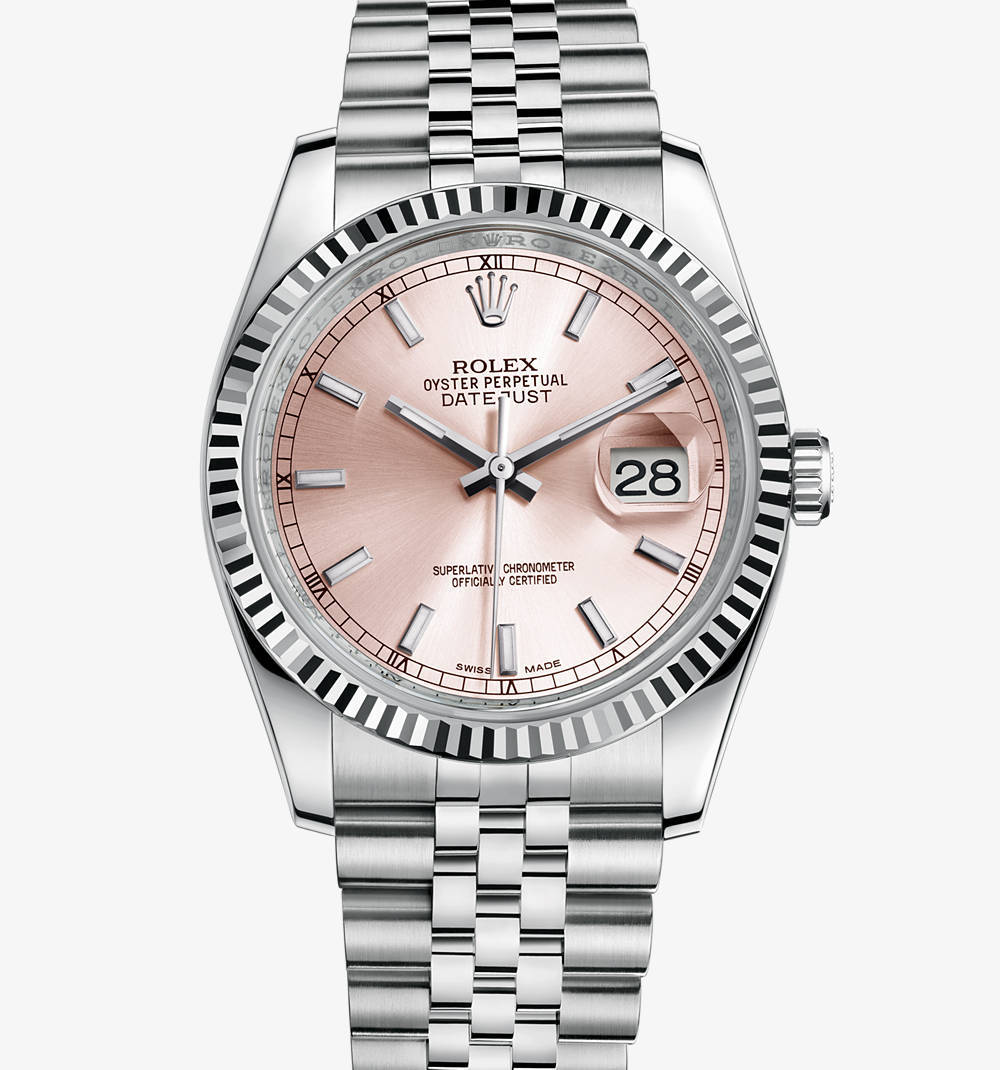 Replica Rolex Datejust 36 mm Watch: White Rolesor - combination of 904L steel and 18 ct white gold – M116234-0108 [35b3]