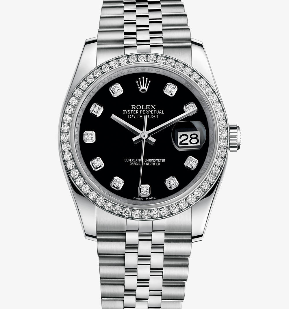 Replica Rolex Datejust 36 mm Watch: White Rolesor - combination of 904L steel and 18 ct white gold – M116244-0014 [b59d]