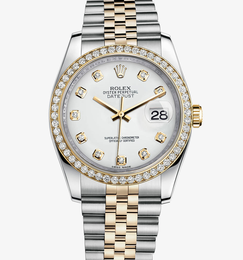 Replica Rolex Datejust 36 mm Watch: Yellow Rolesor - combination of 904L steel and 18 ct yellow gold – M116243-0021 [1a57]