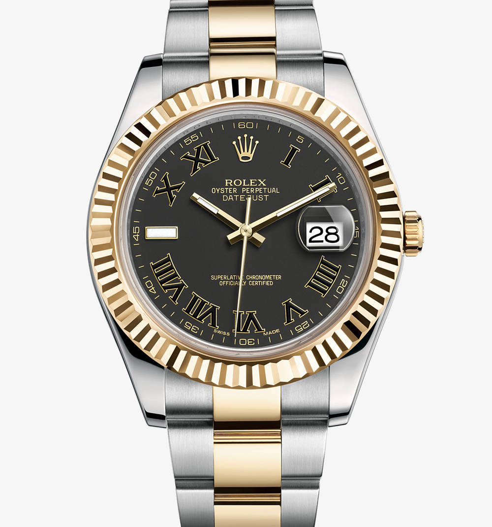 Replica Rolex Datejust II Watch: Yellow Rolesor - combination of 904L steel and 18 ct yellow gold – M116333-0002 [f1e5]