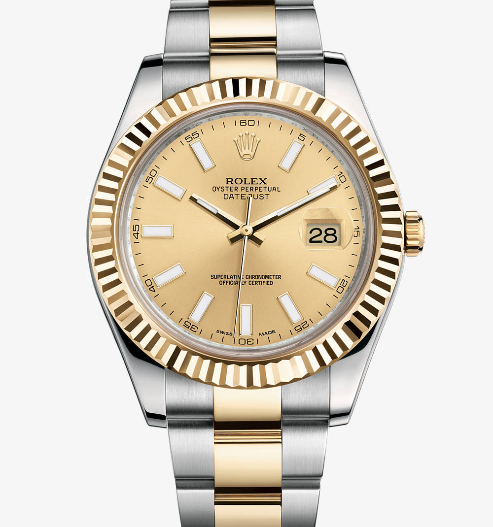 Replica Rolex Datejust II Watch: Yellow Rolesor - combination of 904L steel and 18 ct yellow gold – M116333-0006 [2ce6]
