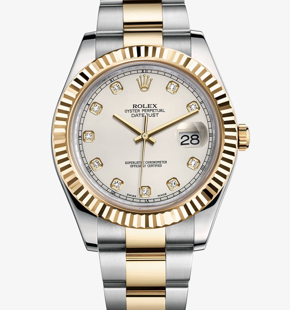 Replica Rolex Datejust II Watch: Yellow Rolesor - combination of 904L steel and 18 ct yellow gold – M116333-0008 [9058]