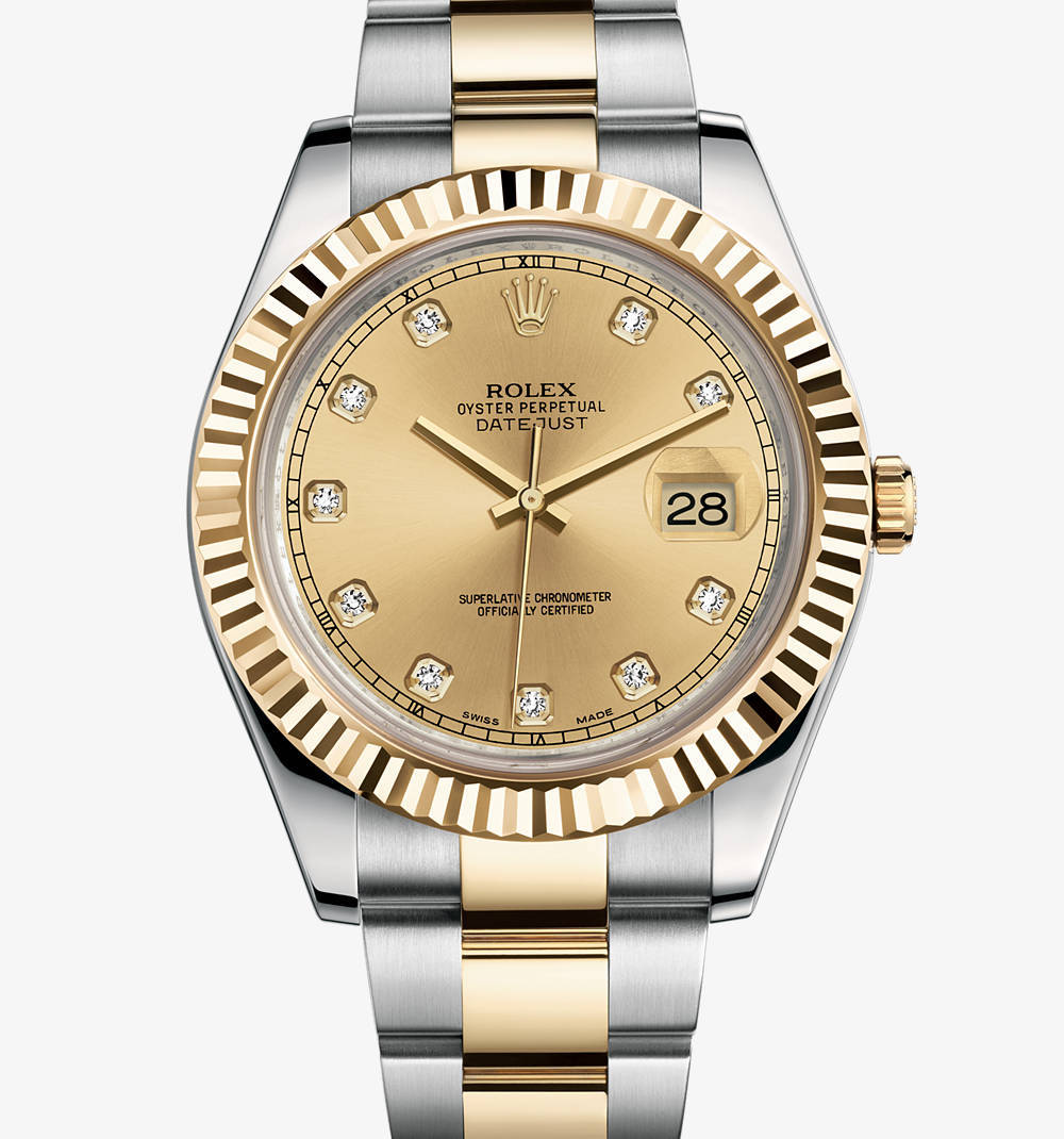 Replica Rolex Datejust II Watch: Yellow Rolesor - combination of 904L steel and 18 ct yellow gold – M116333-0007 [b3ae]