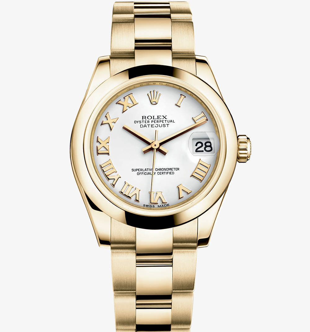 Replica Rolex Datejust Lady 31 Watch: 18 ct yellow gold – M178248-0065 [59a3]