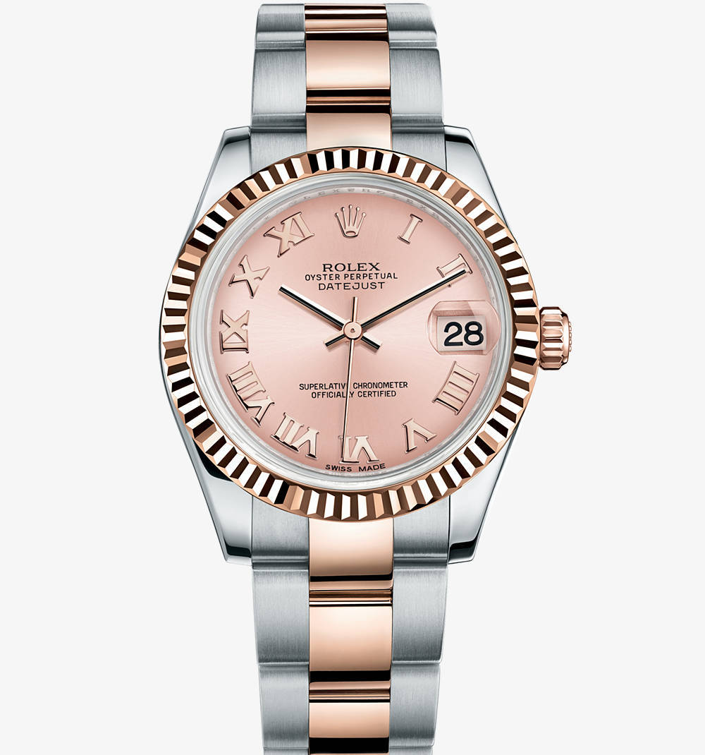 Replica Rolex Datejust Lady 31 Watch: Everose Rolesor - combination of 904L steel and 18 ct Everose gold – M178271-0062 [21f5]
