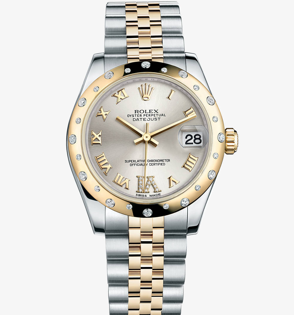 Replica Rolex Datejust Lady 31 Watch: Yellow Rolesor - combination of 904L steel and 18 ct yellow gold – M178343-0012 [402d]