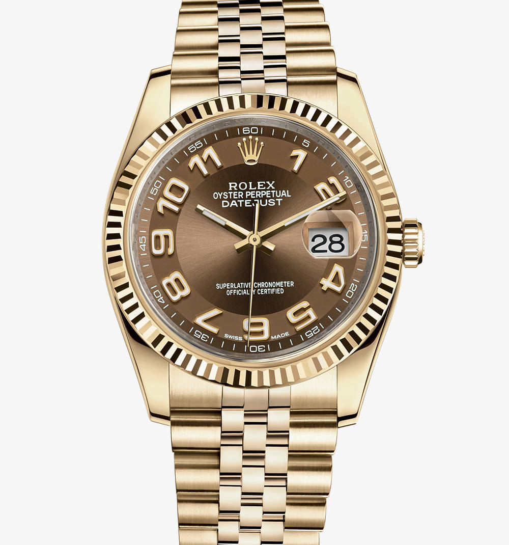 Replica Rolex Datejust Watch: 18 ct yellow gold – M116238-0076 [aff3]