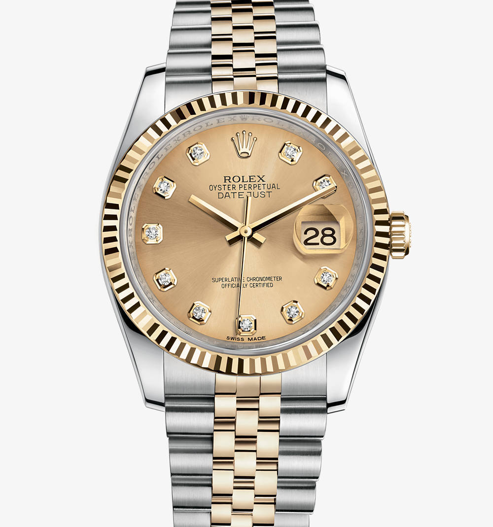 Replica Rolex Datejust Watch: Yellow Rolesor - combination of 904L steel and 18 ct yellow gold – M116233-0150 [3858]