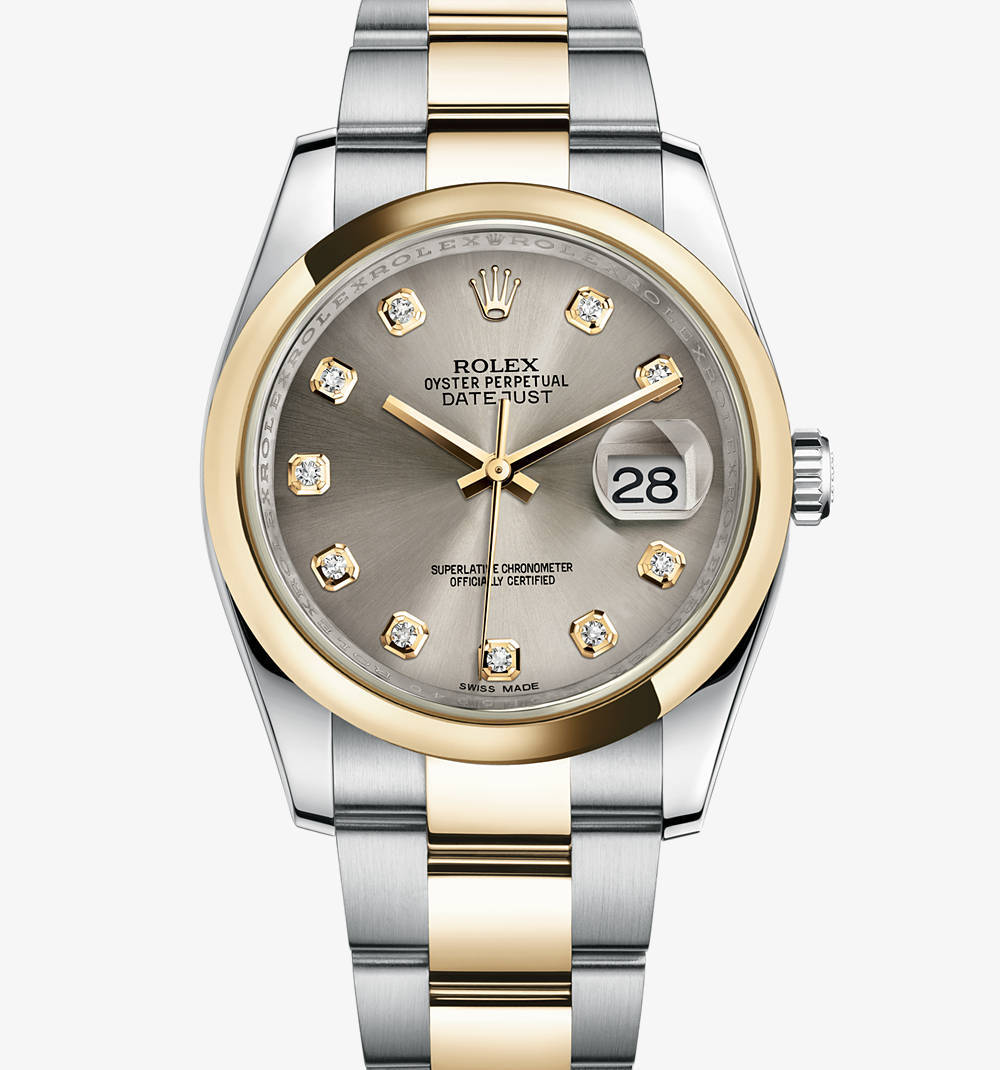 Replica Rolex Datejust Watch: Yellow Rolesor - combination of 904L steel and 18 ct yellow gold – M116203-0138 [e7f1]