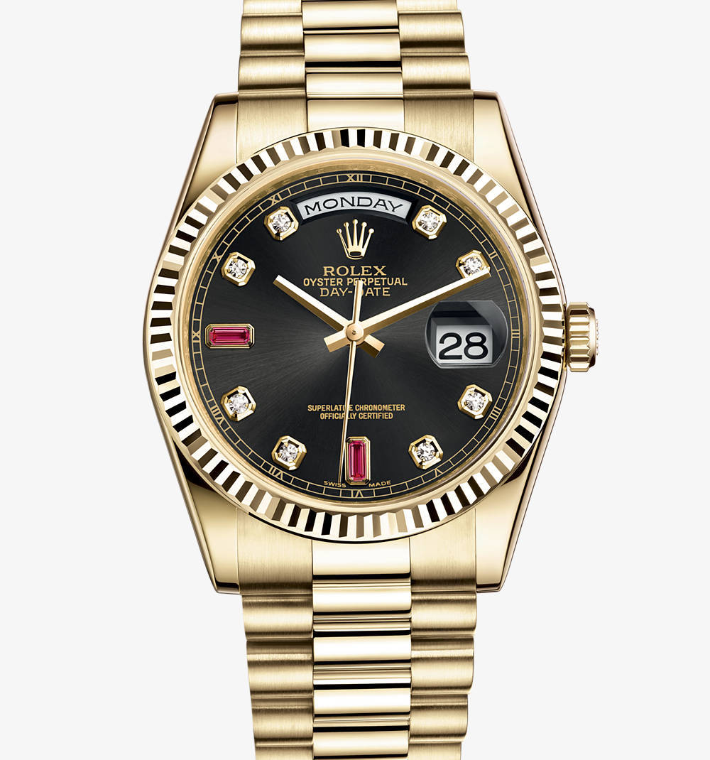 Replica Rolex Day-Date Watch: 18 ct yellow gold – M118238-0394 [24c3]