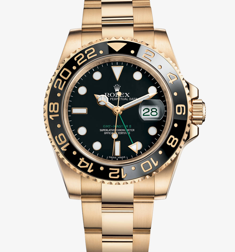 Replica Rolex GMT-Master II Watch: 18 ct yellow gold – M116718LN-0001 [67a2]