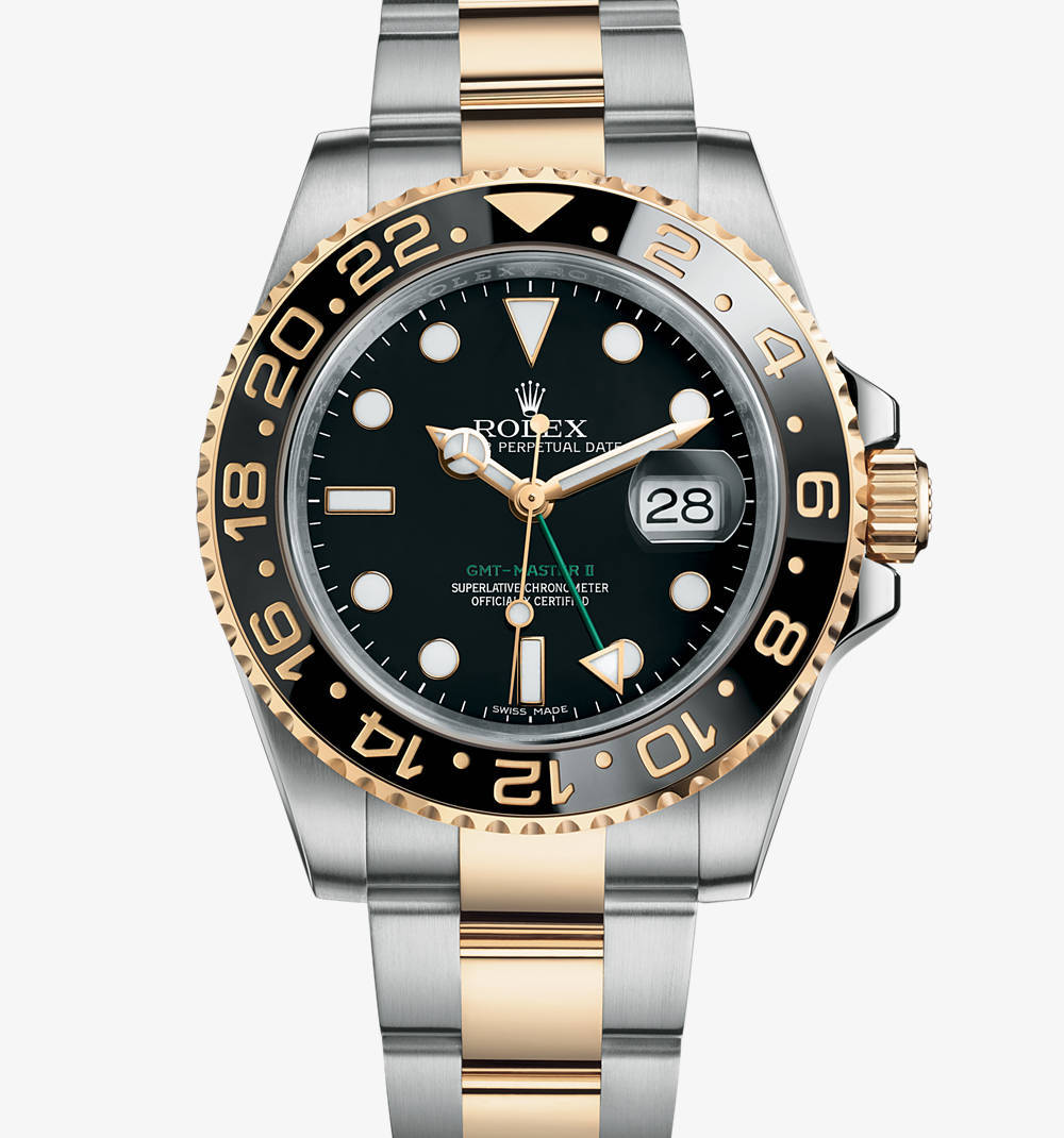 Replica Rolex GMT-Master II Watch: Yellow Rolesor - combination of 904L steel and 18 ct yellow gold – M116713LN-0001 [3151]