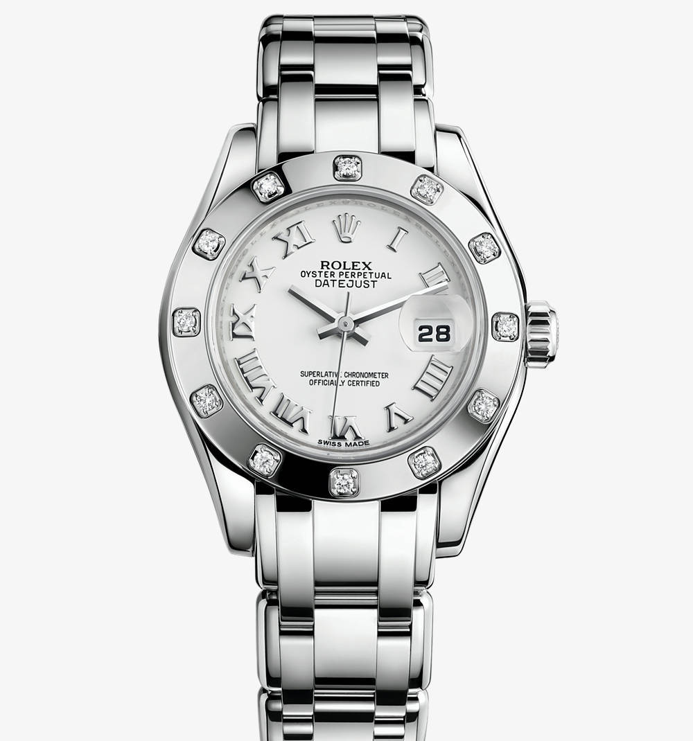 Replica Rolex Lady-Datejust Pearlmaster Watch: 18 ct white gold – M80319-0040 [c1eb]