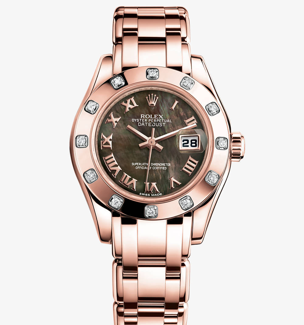 Replica Rolex Lady-Datejust Pearlmaster Watch: 18 ct Everose gold – M80315-0023 [f69d]