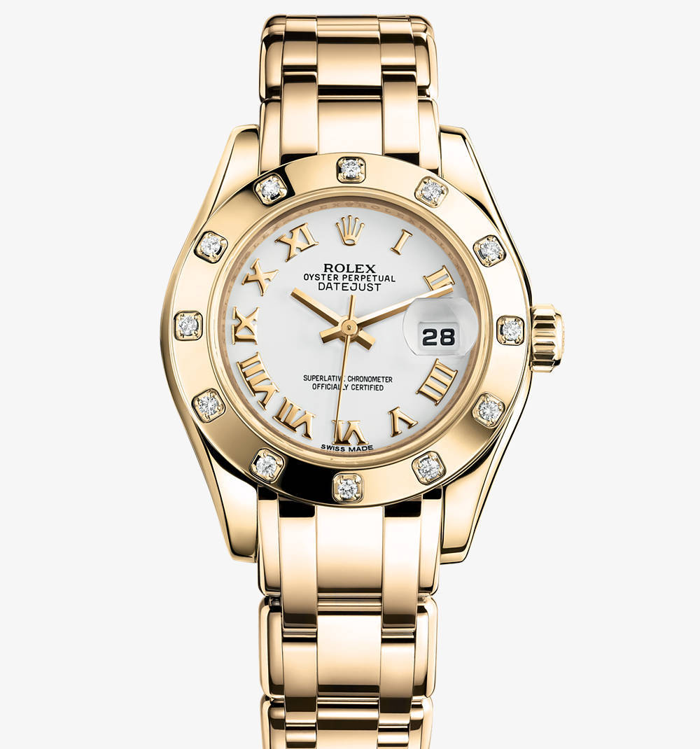 Replica Rolex Lady-Datejust Pearlmaster Watch: 18 ct yellow gold – M80318-0054 [c7f0]