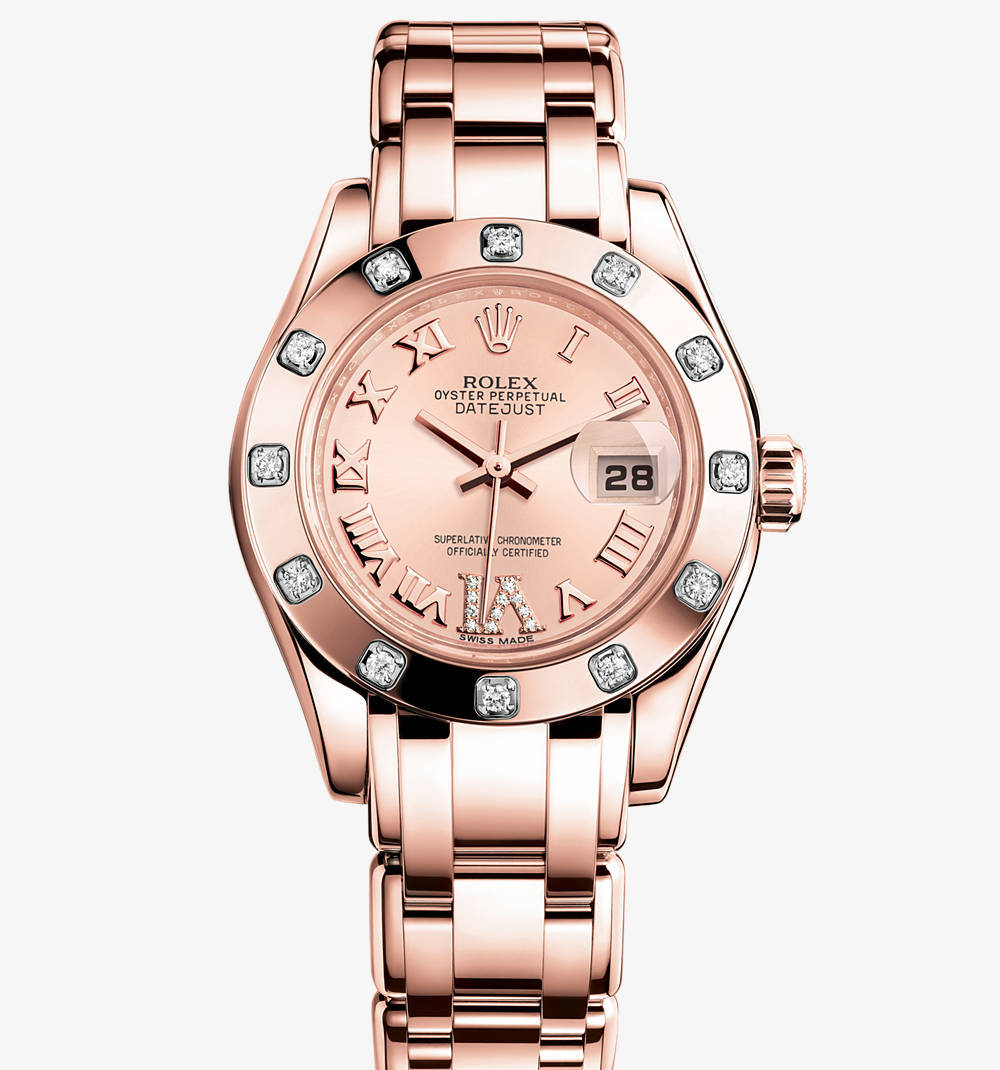 Replica Rolex Lady-Datejust Pearlmaster Watch: 18 ct Everose gold – M80315-0012 [5ce1]