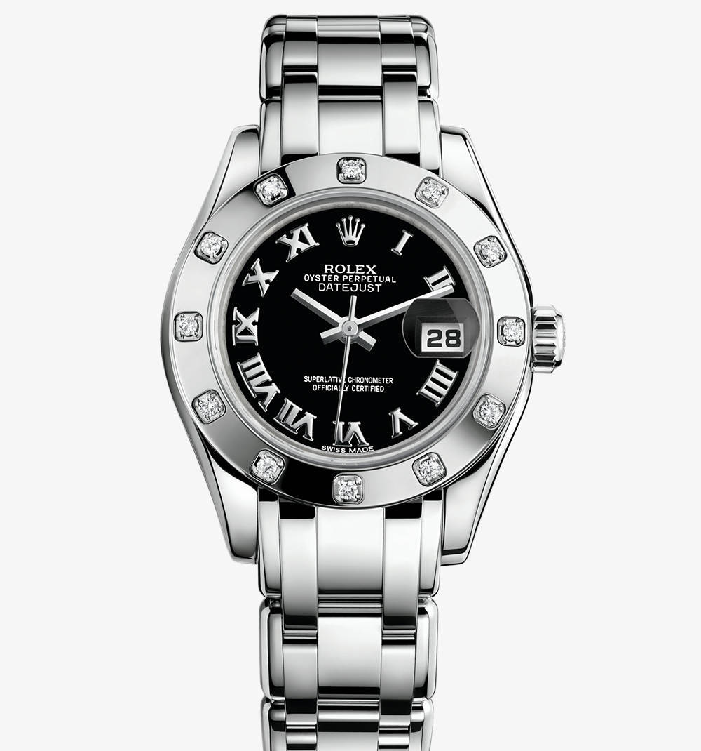 Replica Rolex Lady-Datejust Pearlmaster Watch: 18 ct white gold – M80319-0108 [1079]