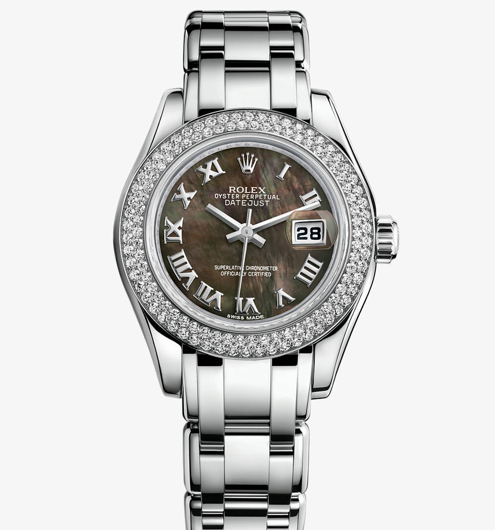 Replica Rolex Lady-Datejust Pearlmaster Watch: 18 ct white gold – M80339-0032 [2c07]
