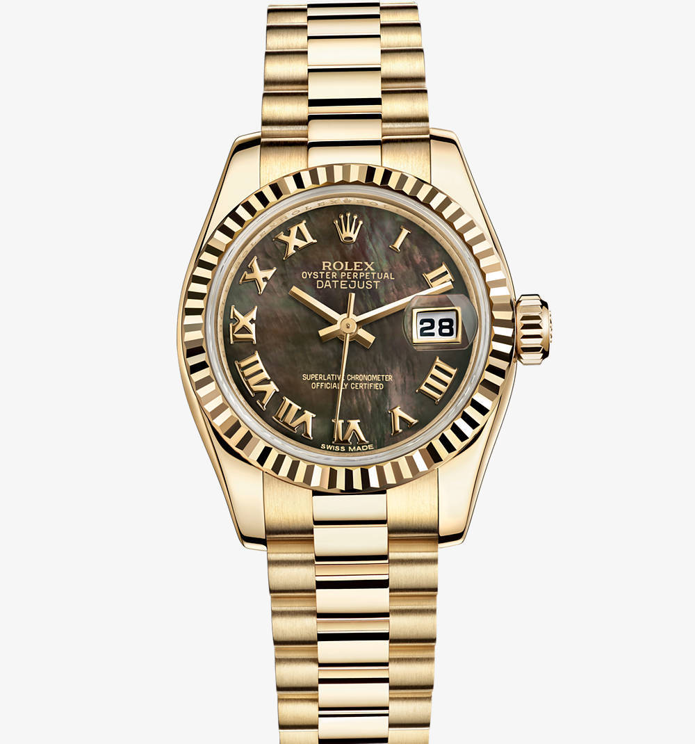 Replica Rolex Lady-Datejust Watch: 18 ct yellow gold – M179178-0024 [ee3e]