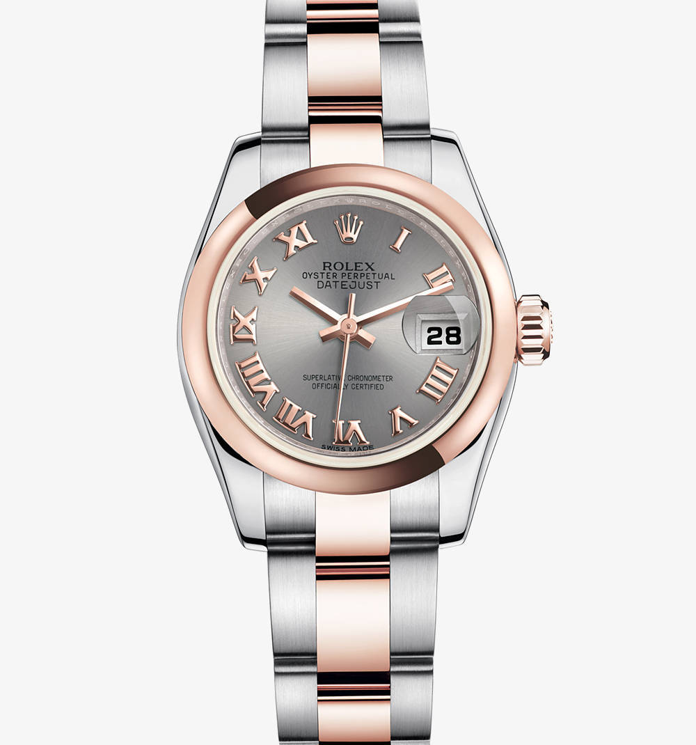 Replica Rolex Lady-Datejust Watch: Everose Rolesor - combination of 904L steel and 18 ct Everose gold – M179161-0070 [2702]