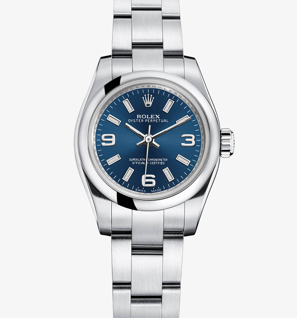 Replica Rolex Lady Oyster Perpetual Watch: 904L steel – M176200-0003 [185a]