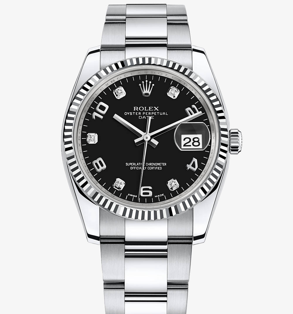 Replica Rolex Oyster Perpetual Date Watch: White Rolesor - combination of 904L steel and 18 ct white gold – M115234-0011 [84bc]