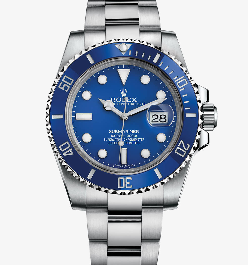 Replica Rolex Submariner Date Watch: 18 ct white gold – M116619LB-0001 [382f]