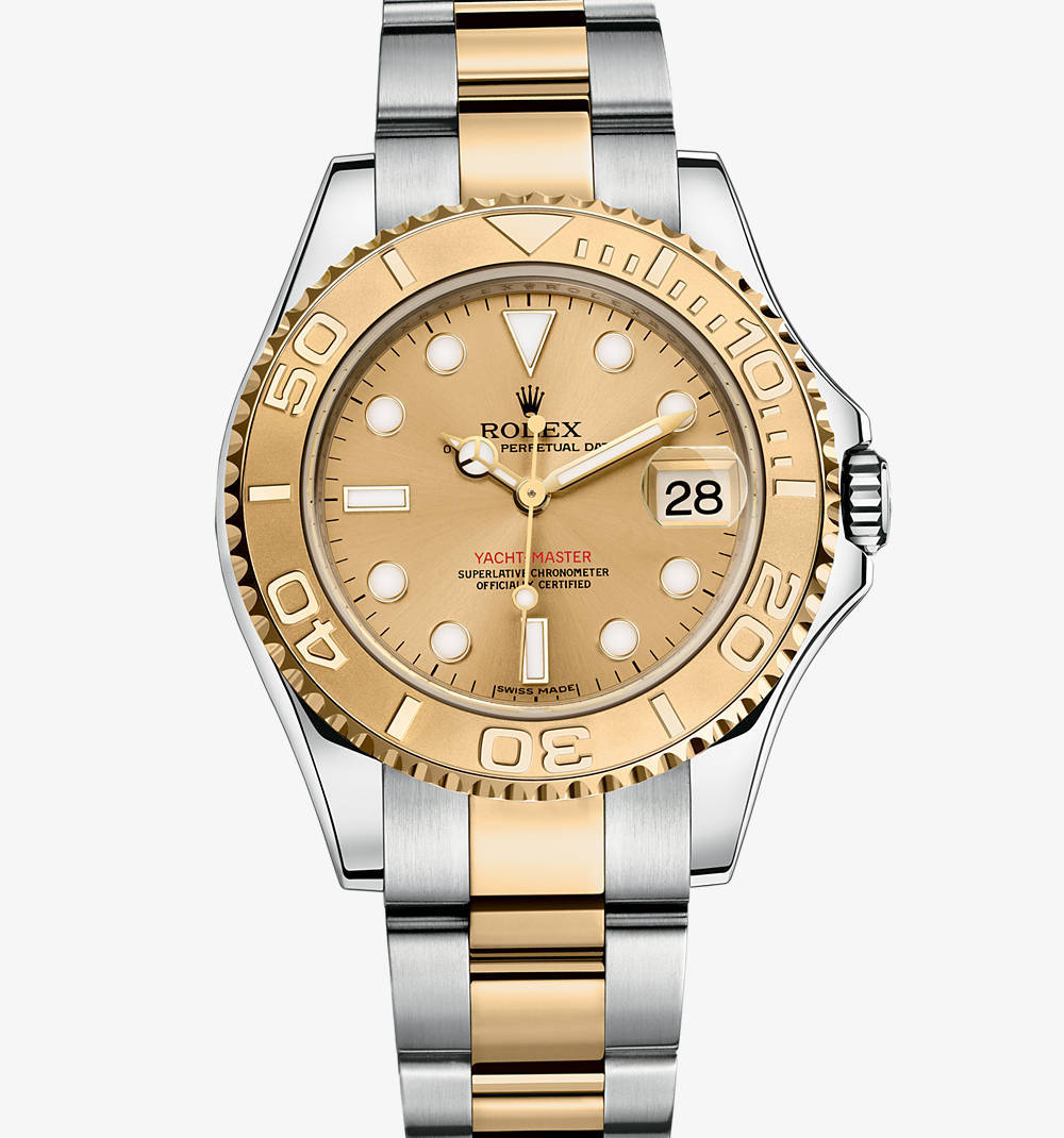 Replica Rolex Yacht-Master Watch: Yellow Rolesor - combination of 904L steel and 18 ct yellow gold – M168623-0007 [02b9]