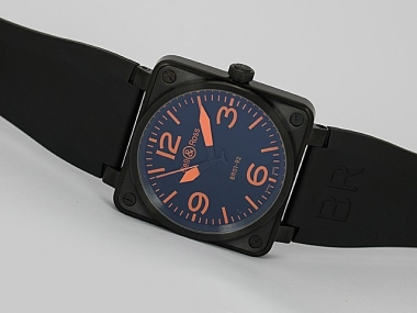 Cool Bell & Ross BR 01-92 Automatic PVD Casing with Orange Marking-Rubber Strap AAA Watches [F9F6]