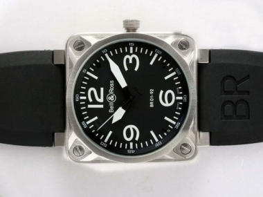 Cool Bell & Ross BR 01-92 Automatic with Black Dial-White Marking AAA Watches [I2L7]