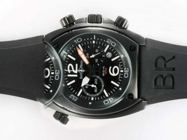 Cool Bell & Ross BR 02-94 Working Chronograph PVD Casing with Black Dial AAA Watches [D5E3]