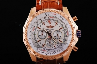 Modern Breitling for Bentley Motors T Working Chronograph Quartz Rose Golden AAA Watches [A2C3]