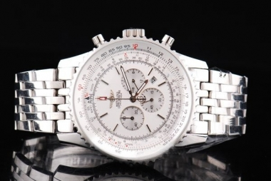 Perfect Breitling Navitimer Chronograph Quartz Movement Silver Case AAA Watches [A5E4]