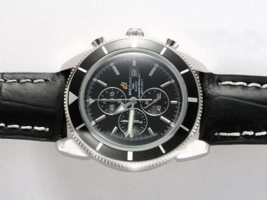Vintage Breitling Super Ocean Working Chronograph with Black Dial and Bezel AAA Watches [M8V8]