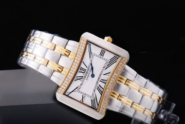 Gorgeous Cartier Ballon Bleu de Cartier Two Tone with Diamond Bezel-White AAA Watches [L5V5]