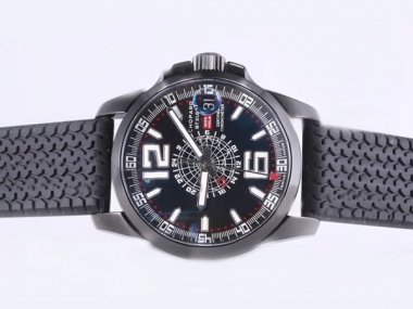 Cool Chopard Mile Milgia GT Working GMT Automatic With PVD Case AAA Watches [E6R7]