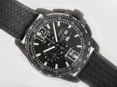 Gorgeous Chopard Mile Miglia GTXXL Working Chronograph PVD Case with Black Dial AAA Watches [X1D2]