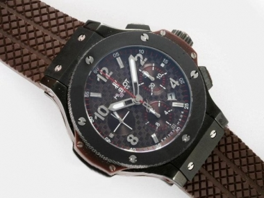 Gorgeous Hublot Big Bang Chronograph Asia Valjoux 7750 Movement With Brown Dial AAA Watches [M4I6]