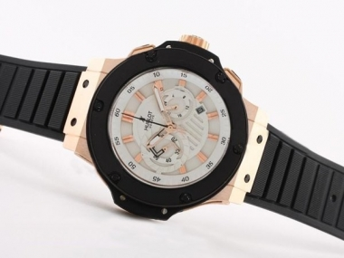 Gorgeous Hublot Big Bang King Working Chronograph Rose Gold Case AAA Watches [W5I9]
